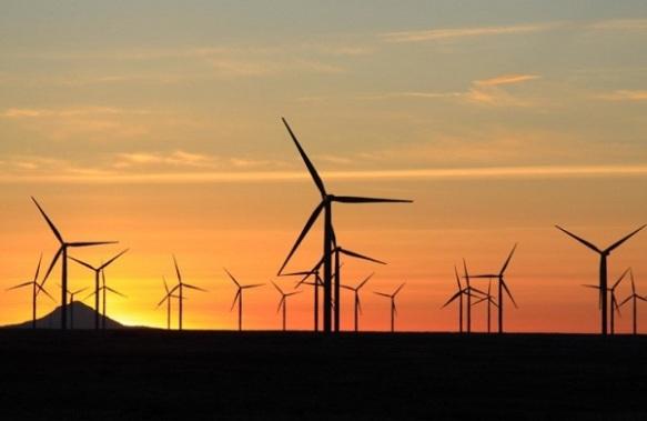 Flat wind farm